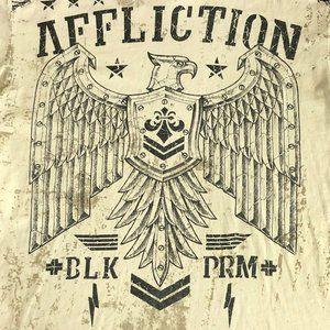 Mens Affliction T Shirt Large Short Sleeve